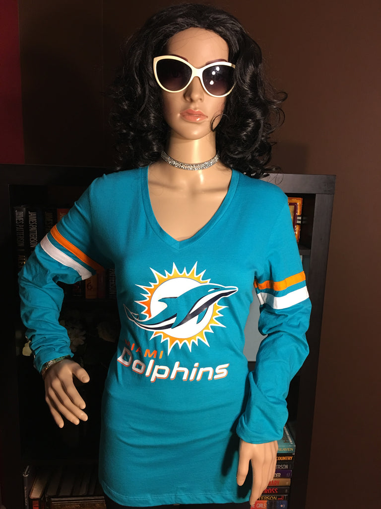 purchase cheap 91a1c c6204 Miami Dolphins Ladies Team Apparel Long Sleeve