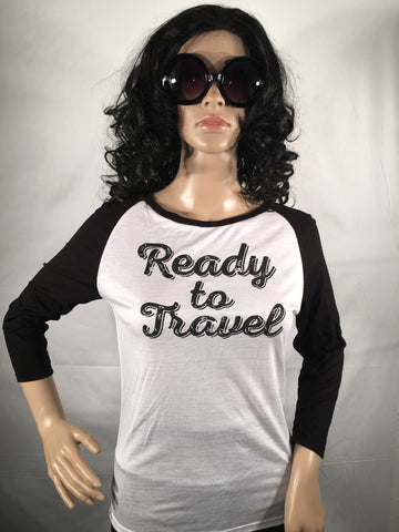 Ready to Travel Juniors Raglan Graphic T-Shirt - Girls Love Stuff