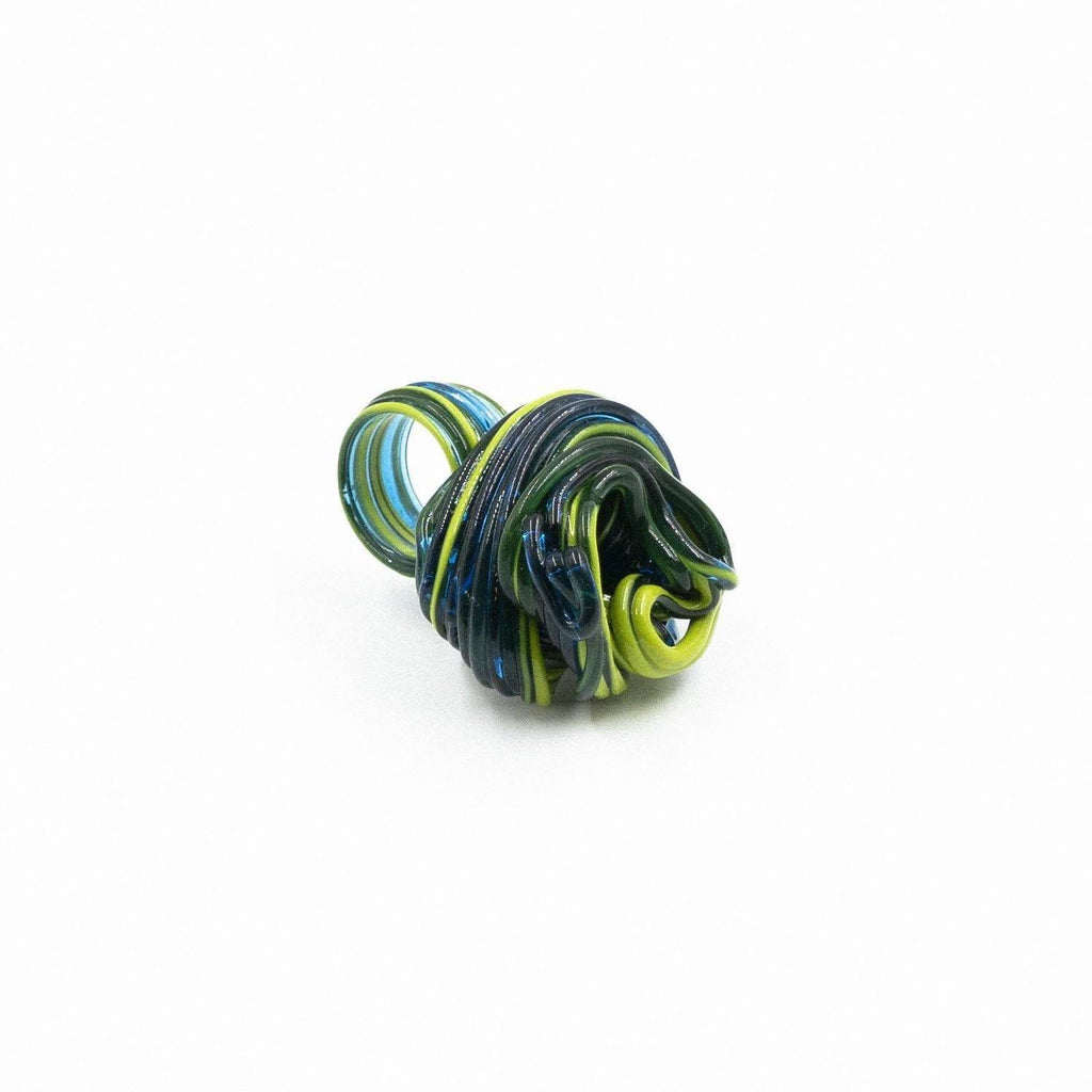 Bague en résine verte/bleue de Gaetano Pesce - Fish Design-The Woods Gallery