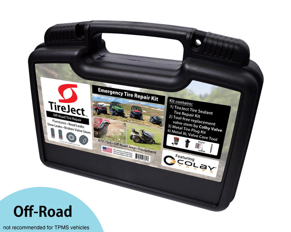 Tireject Off-Road Emergency Tire Repair Kit featuring Colby Valve