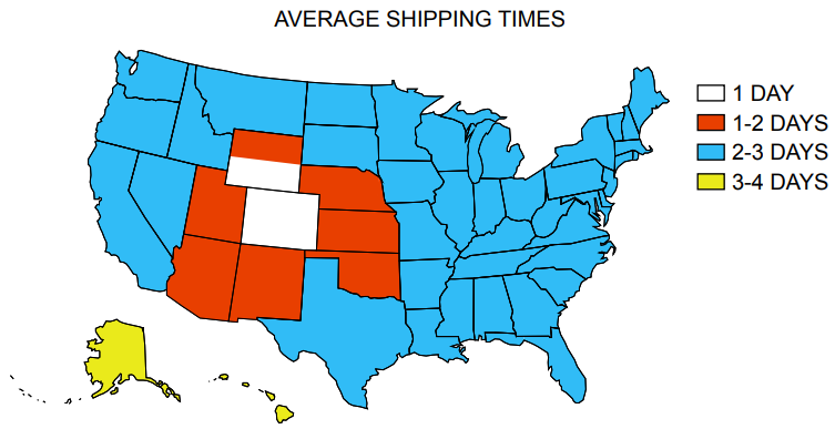 Shipping Speed Map