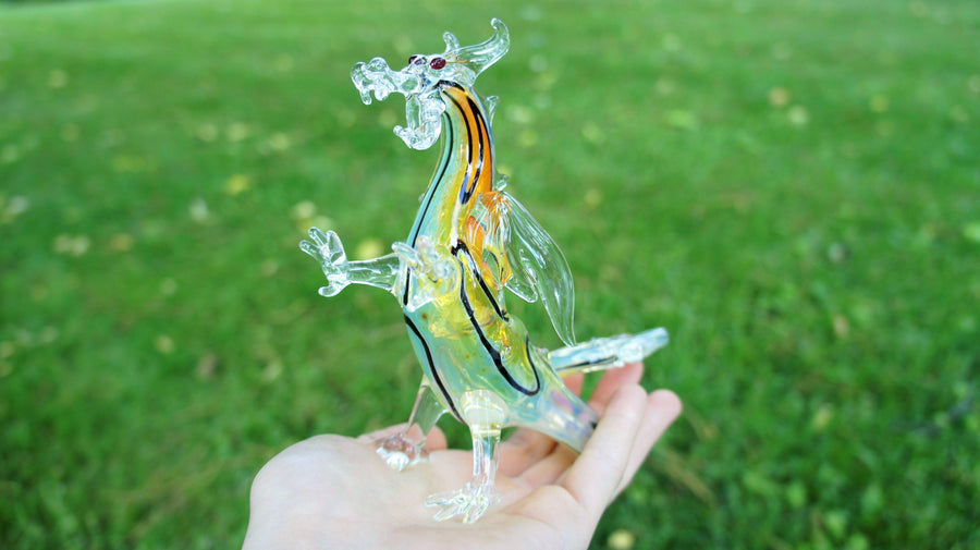 Feestanding Glass Dragon Hand Pipe-Glass Handpipes-Stash Lab Technologies