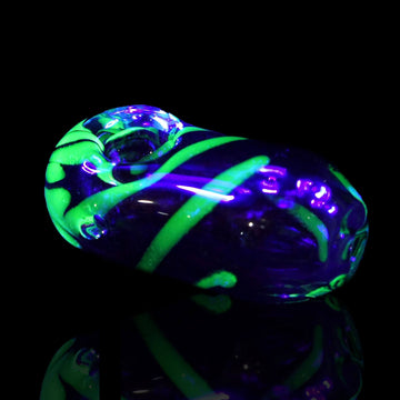 Illuminati Egg Glass Spoon Pipe- Dark Slime-Glass Handpipes-Stash Lab Technologies