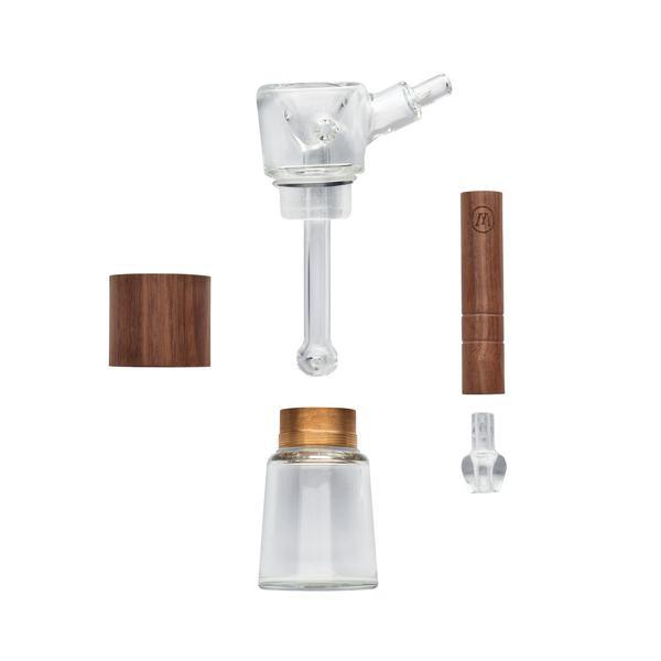Marley Natural | Wood Finish Glass Bubbler-Stash Lab Technologies