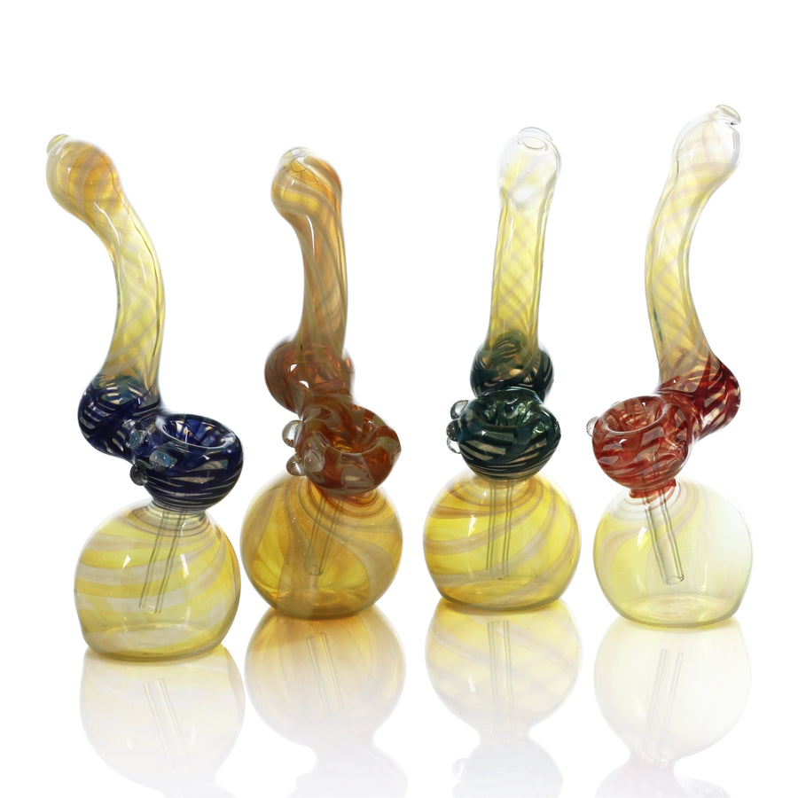 Color Changing Glass Sherlock Bubbler