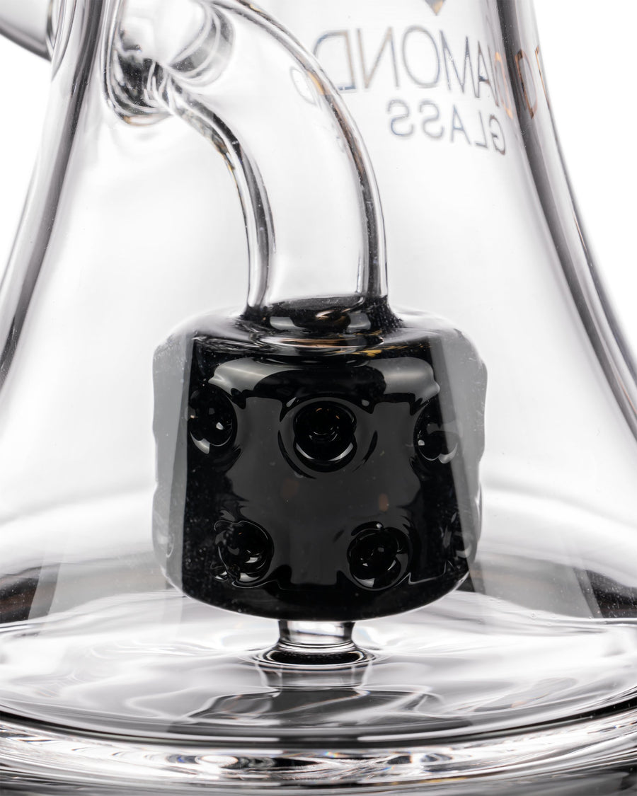 Diamond Glass Big Puck Dab Rig Closeup of Puck Perc