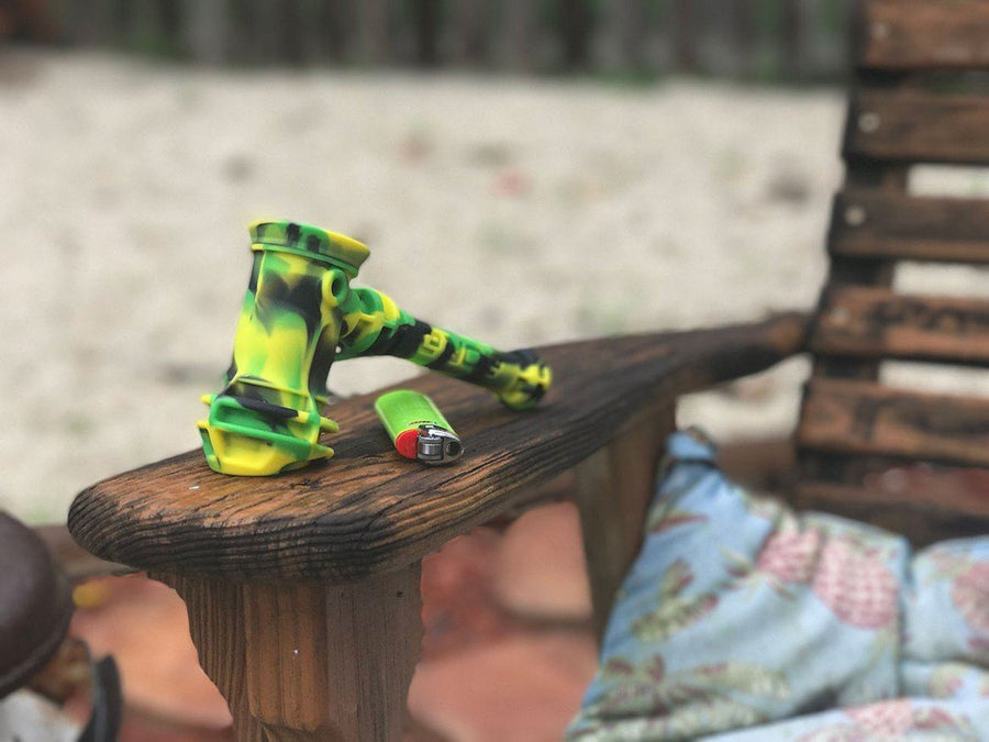 EYCE | Silicone Bubbler Pipe- Assorted Colors-Stash Lab Technologies