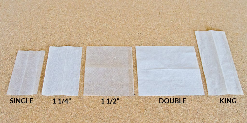 all rolling paper sizes