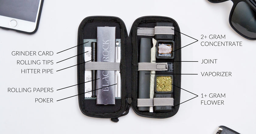 buy smell proof case weed smoking kit