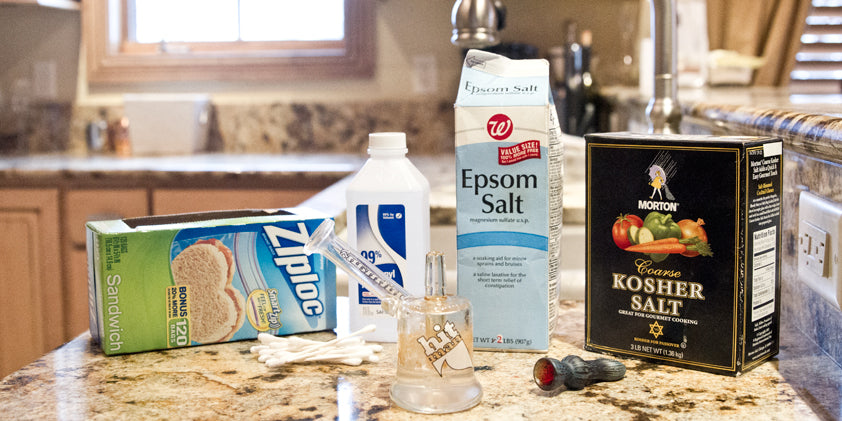 Everything you need to clean smoking glass