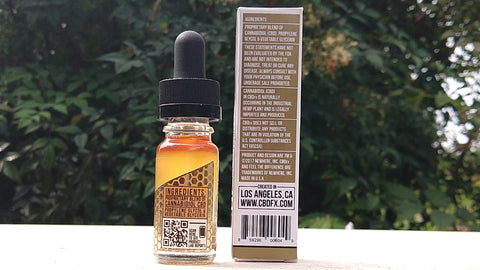 CBDfx CBD Oil Vape Additive 300mg back