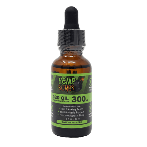 Hemp Bombs CBD Oil Peppermint Flavor Tincture Product Review