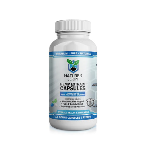 Nature's Script Hemp Extract CBD Capsules Product Review