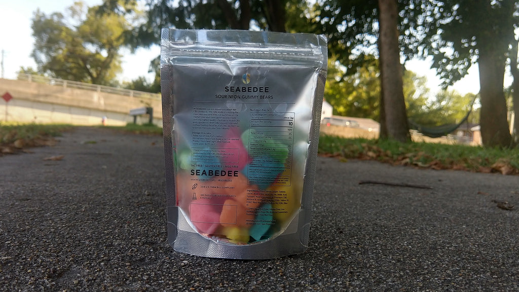 SeaBeDee Sour Neon CBD Gummy Bears Product Review – Key to