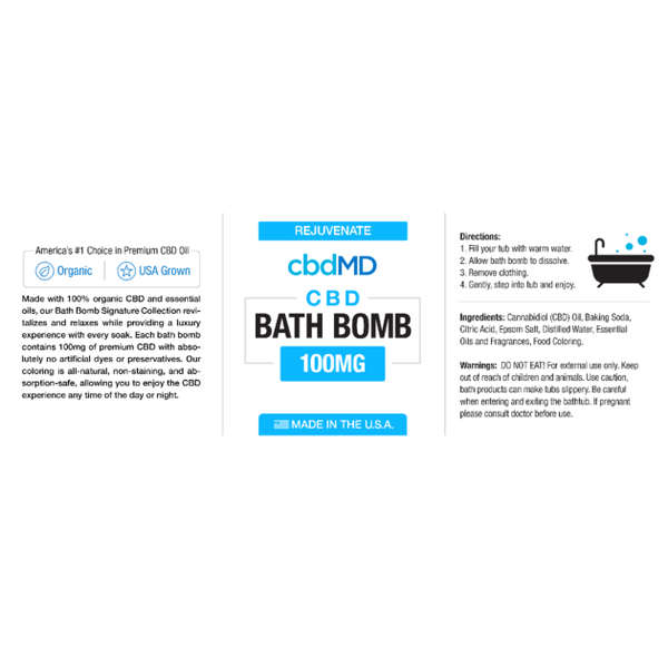 Cbdmd Cbd Bath Bomb Product Review Key To Cannabis