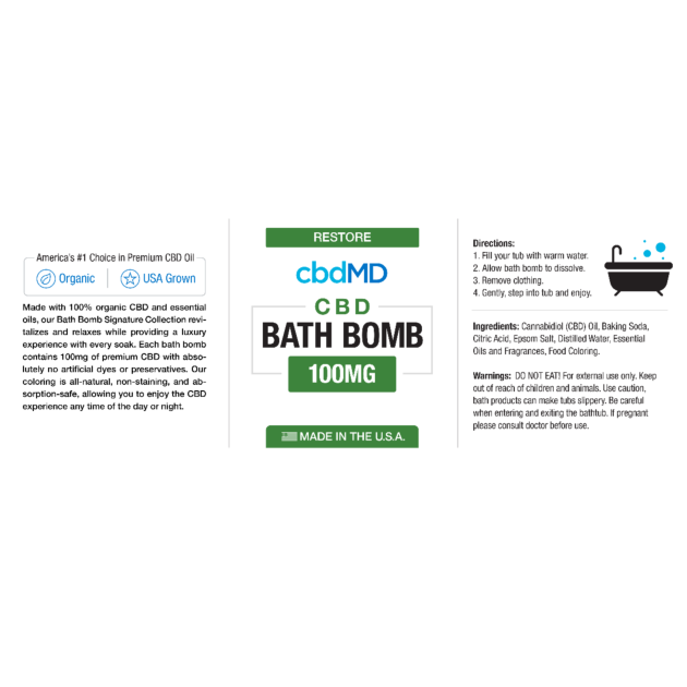 cbdMD CBD Bath Bomb Product Review – Key to Cannabis