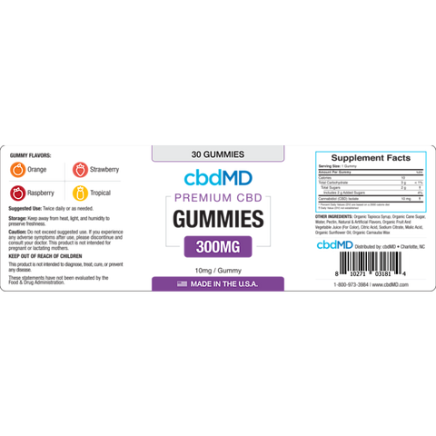 cbdMD-cbd-gummies-300mg-label