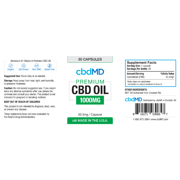 cbdMD CBD Oil Softgel Capsules Product Review – Key to Cannabis