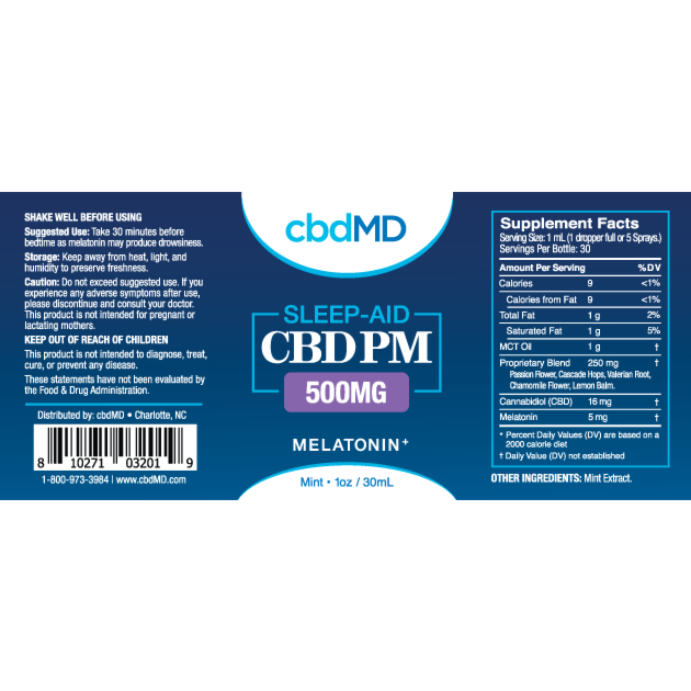 cbdMD CBD PM Oil Tincture Drops Product Review – Key to Cannabis