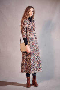 Masscob floral print long dress in cotton