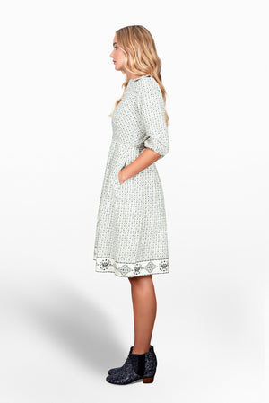 Sonnet cotton twill venn dress