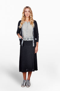 Melanie Press Dica Lurex black glitter cardigan