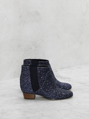 GOLDEN GOOSE glitter ankle boot