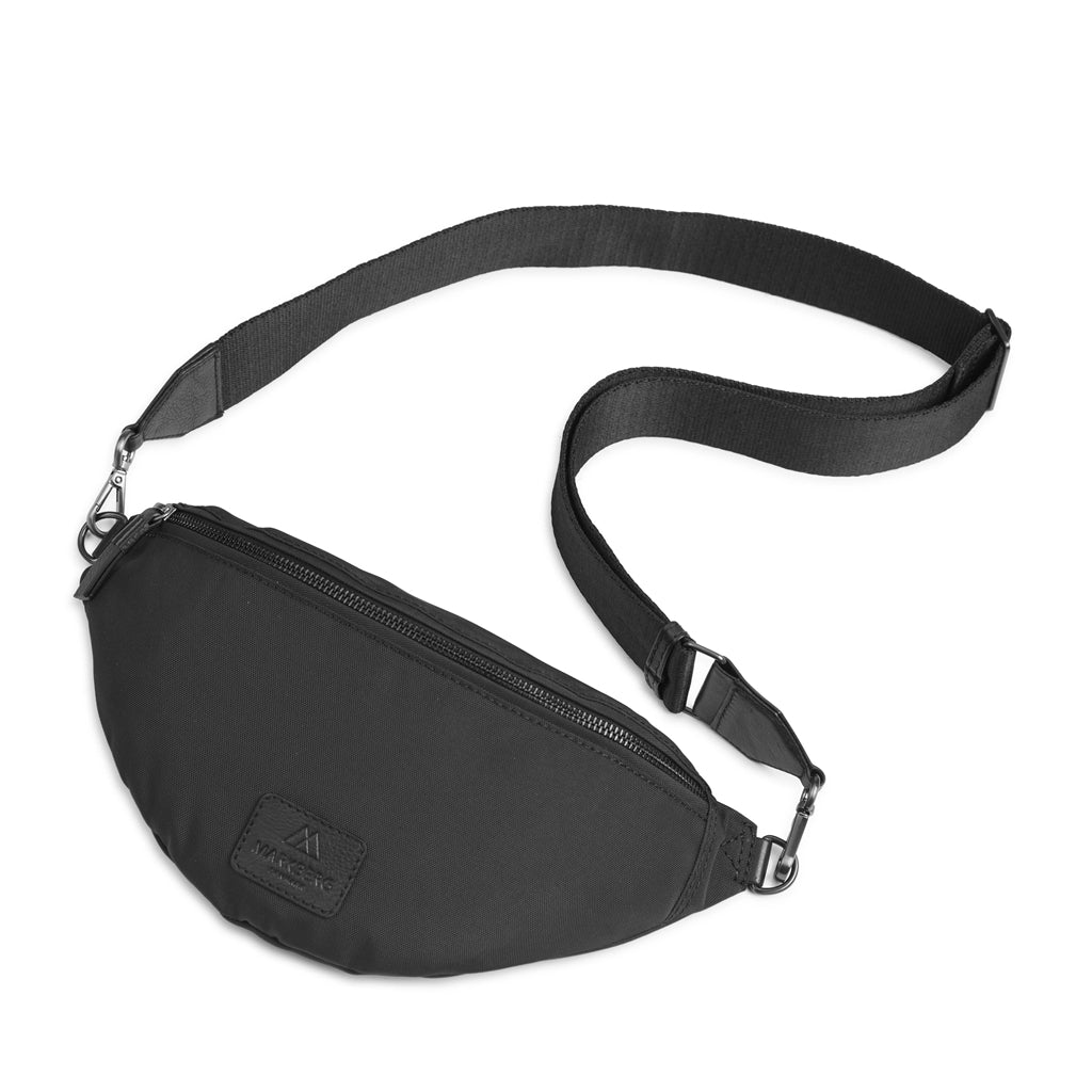Crossbody Elinor recycled bumbag in black