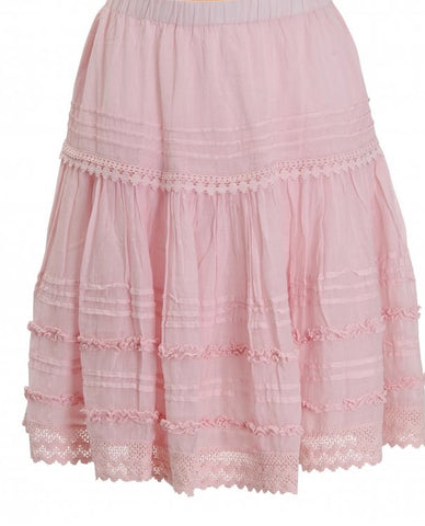 Ruffle midi skirt in Pink
