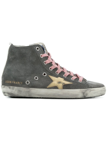 Golden Goose Francy Hightop Sneaker in Grey Suede
