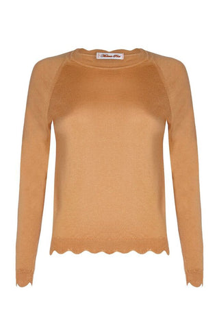 Scallop Sweater - Camel