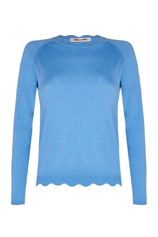 Scallop Sweater - Blue