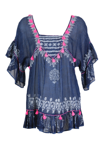 Happy Few By Terre Rouge Indigo Tunic