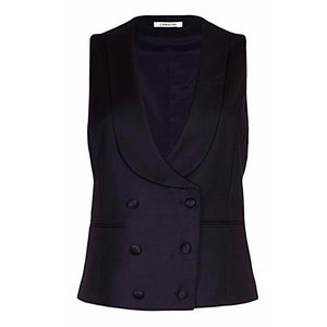 Melanie Press for Lardini Waistcoat Black