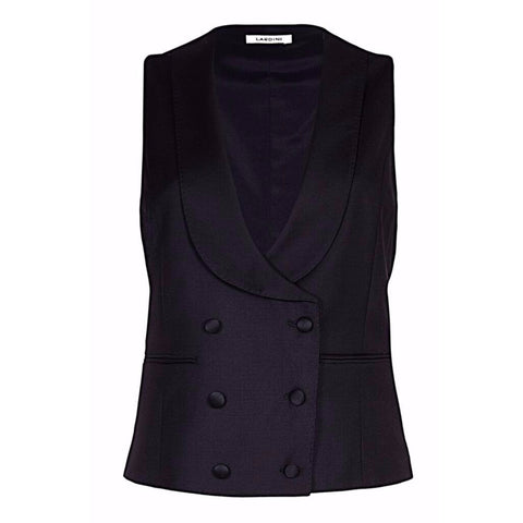 Melanie Press for Lardini Waistcoat in Black