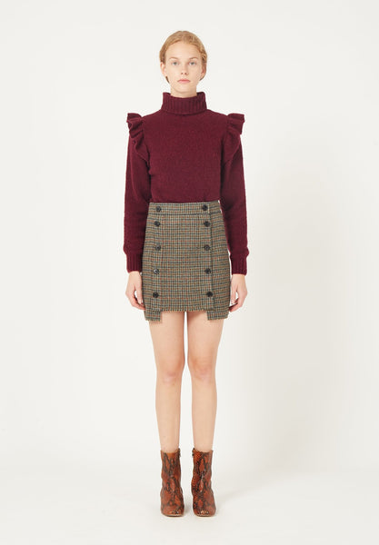 masscob knit pullover burgundy