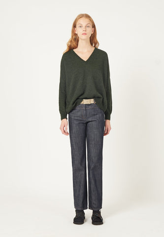 Masscob v neck knit green