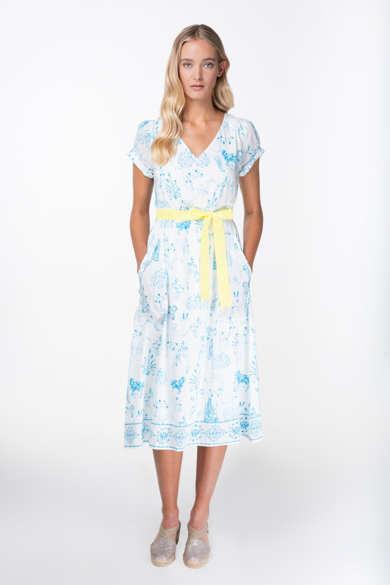 Maria print cotton silk dress - PRESS Primrose Hill