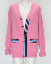 Load image into Gallery viewer, melanie press pink lambswool cardigan