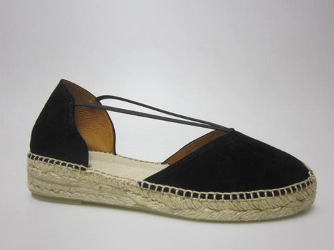 Toni Pons Erla black suede wedge espadrille on 3 cm height wedge