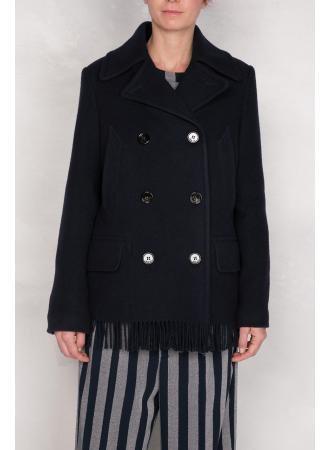 Golden goose pea coat in italian wool