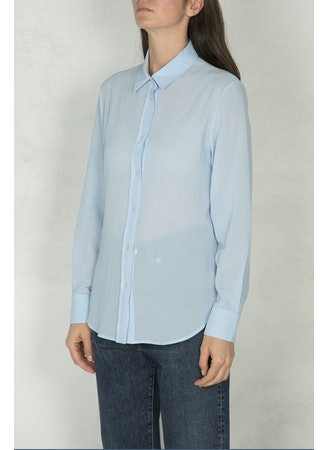 Classic-boy blue cotton shirt
