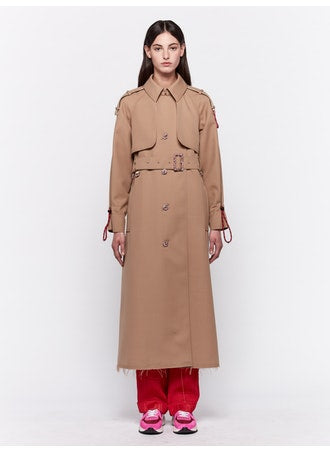 Serenity beige trench coat