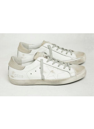 Golden goose white superstar sneaker skate
