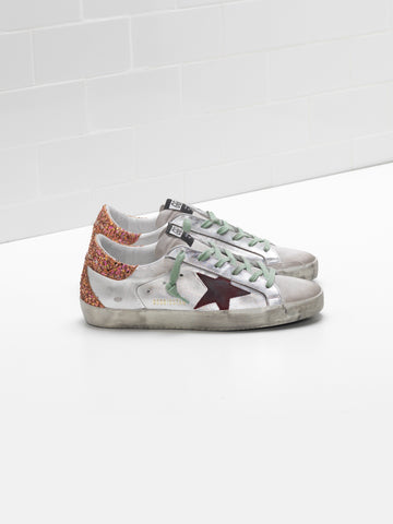 Superstar silver pink glitter sneakers