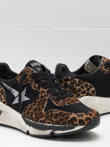 Running sole in leopard & black
