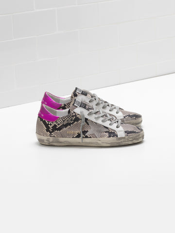 Superstar python-effect leather