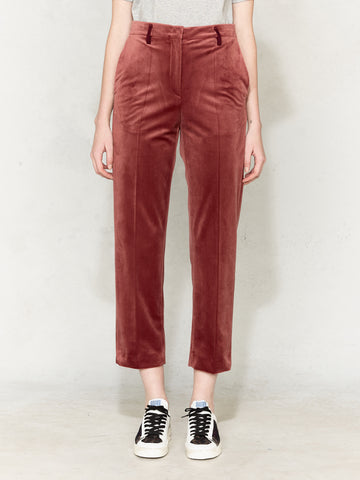 Golden velvet pink trouser