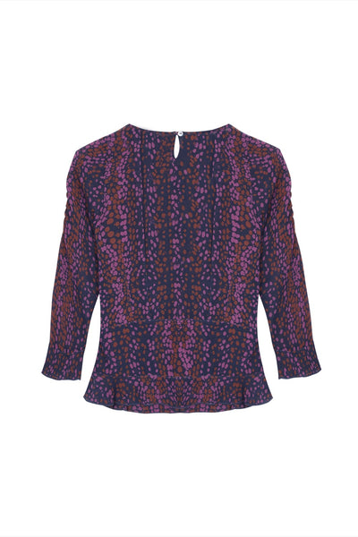 GWEN silk print twist Top