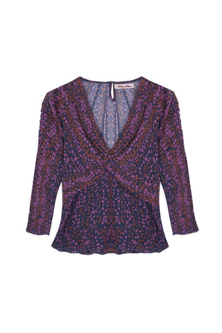 GWEN silk print twist top by Melanie Press Collection
